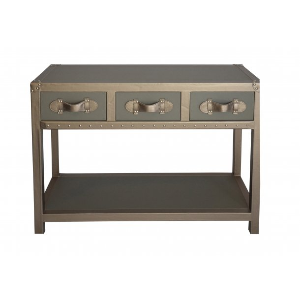 Console table in luxurious artificial leather