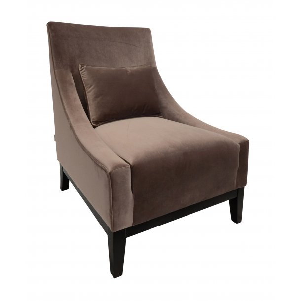 Velvet lounge chair